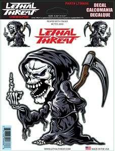 Lethal Threat Sticker Motorrad Aufkleber Harley Reaper