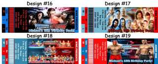 WWE Smackdown vs Raw ~ Birthday Party Ticket Invitations, Supplies
