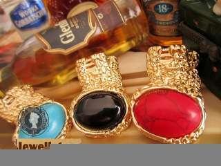 Red Stone Classic Gold Color European Retro Ring HOT r va407