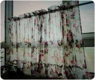 Romantic Ruffle Adjustable Balloon Shade/Cafe Curtain W