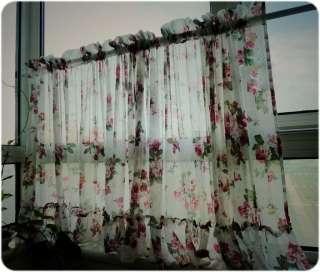 Romantic Ruffle Adjustable Balloon Shade/Cafe Curtain W