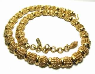 Pretty Monet Gold Tone Necklace