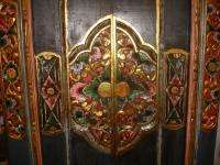 BALINESE Door Hand Carved Wood~Bali Lotus Style Architectural Art~Home