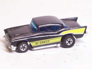 Vintage 1976 Mattel Hot Wheels 57 Chevy Black and Yellow