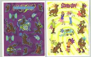 Sheets SCOOBY DOO Mystery Machine Rock Star Scrapbook Stickers