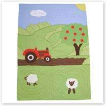 Baby/ Nursery /Boys / Kids Farm Yard Tractor Bedding Patchwork Quilted