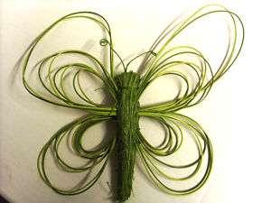 Schmetterlinge grün Bast Peddeigrohr 17 cm X24