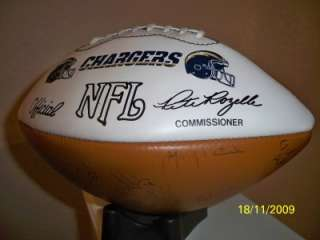 SAN DIEGO CHARGERS TEAM SIGNED WILSON NFL AUTO FOOTBALL