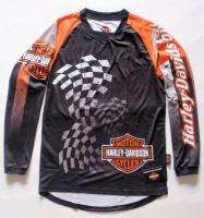 HARLEY DAVIDSON MEN BLACK/ORANGE LONG SLEEVED SHIRT XLARGE HD112BK XL