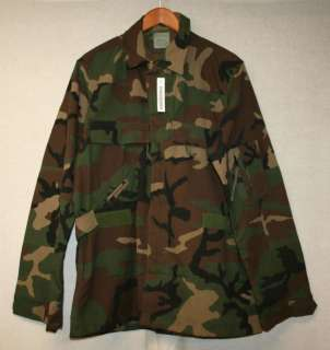 ARMY ISSUE FLAME RESISTANT ABDU COAT AIRCREW COMBAT WOODLAND CAMO SIZE