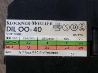 Schütz Klöckner Moeller DIL00 40 DIL 00 40 220V