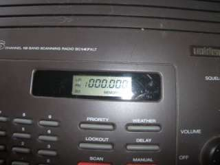 Uniden Bearcat Scanner 16 Channel 10 Band Weather Radio BC147XLT Needs