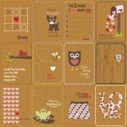 Jillibean Soup Scrapbook HEARTY BARLEY Love Valentine Kraft Paper