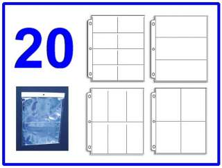 20 Sleeve Variety Pack 4 Coupon Binder Organizer   5 Each 8 6 4 3