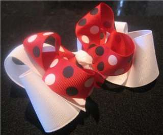 Red White Ladybug Dots Hair Bow M2Mg M2m Girls Boutique