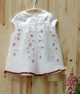 NWT Baby Flower Girl Kids Party Dress White 3 4T BD001