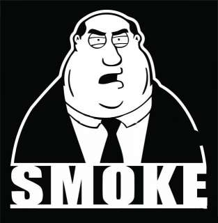 Family Guy Smoke Wall Vinyl Mural Art Stickers/Decals