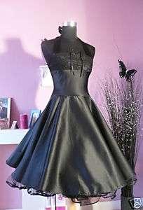 Abendkleid Spitze schwarz Kleid Abiball Konfirmation