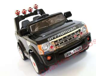 12V LAND ROVER Electric Battery TRUCK BLACK/GREEN/RED/SILVER