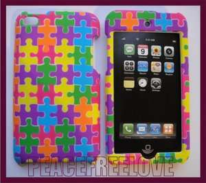 Green Purple Blue Yellow Red Color Puzzle Hard Case Cover for iPod