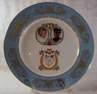 Aynsley Commemorative Plate Marriage of Princess Anne