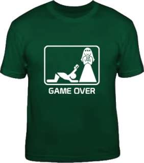 GAME OVER funny wedding bachelor party stag T Shirt