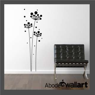 Tall Flower WALL ART STICKER DECAL Contemporary