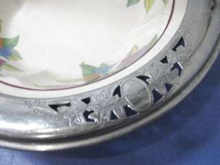 Umbertone Leigh Pottery Farberware Ceramic Deco Silverplated Basket