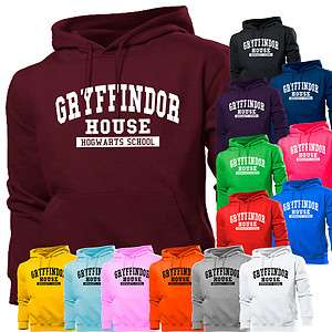 GRYFFINDOR HOUSE HARRY POTTER SCHOOL HOODIE HOODY WOMENS BOY GIRL KIDS