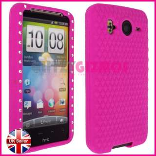 DIAMOND BLING GLITTER BACK COVER CASE FOR HTC DESIRE HD