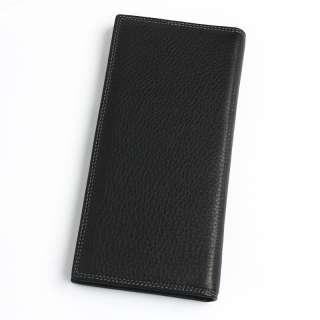 New Mens Long Wallet Genuine Leather Wolf Totem Black