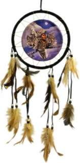 NATIVE AMERICAN INDIAN & WOLF / WOLVES DREAMCATCHER