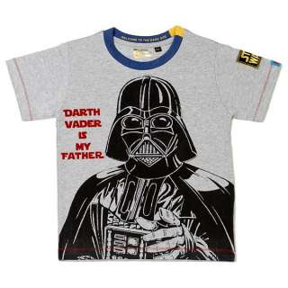 Star Wars Darth Vader is my Father Kids T shirt Top Grey Black