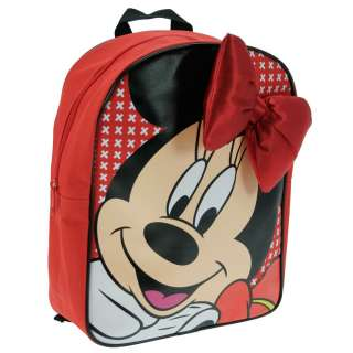 MINNIE MOUSE BOW RUCKSACK SCHOOL BAG BACKPACK