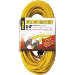 12/3 SJTW Jobsite Outdoor Extension Cord, Yellow: Home Improvement