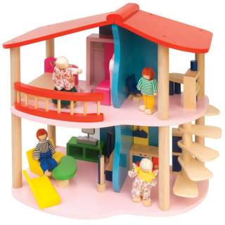 WOODEN DOLLS HOUSE by LEOMARK NEW & BOXED