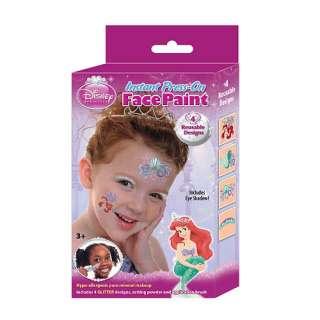 Instant Press On Face Paint   4 Designs   Disney Princess Ariel   Fan