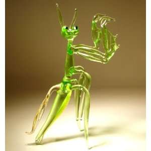 Blown Glass Art Animal Insect Figurine PRAYING MANTIS: Home & Kitchen