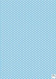 Blue/White Polka Dot Spots Wrapping Paper Gift Wrap x 5