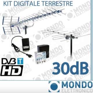 KIT ANTENNA DIGITALE TERRESTRE ANTENNE VHF UHF 92 ELEMENTI CON