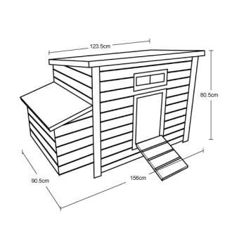 New Wooden Chicken Coop Hen House With Nest Box Poultry Coup Home Ark