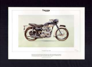 Triumph Tiger 100 Motor Bike Classic Motorcycle Print