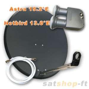 Sat Anlage mit Twin Monoblock LNB HDTV+10m Kabel GRATIS
