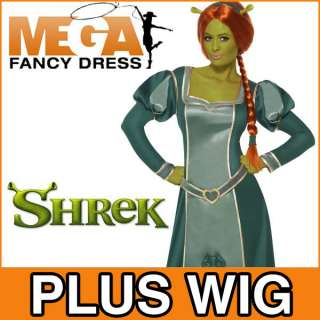 Ogre Shrek Ladies Fancy Dress Halloween Costume Outfit + Wig