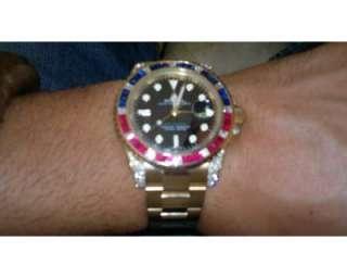 Rolex gmt master2 in oro giallo con diamanti a  / Portuense
