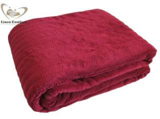 Heated Throw Rug/Electric Snuggle Blanket Burgundy