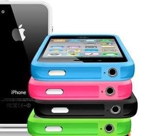 rose, bleu, rouge, noir, blanc, vert pour Iphone 4 S et 4 film AV/AR