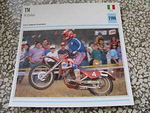 1988 TM 80 Enduro Fiche moto Card picture