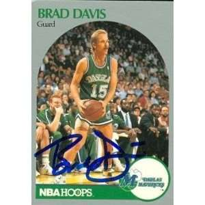 Brad Davis Autographed/Hand Signed Basketball Card (Dallas Mavericks