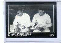 1992 MEGACARDS BABE RUTH & LOU GEHRIG 1934 CARD #59
